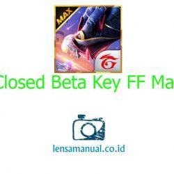 Closed Beta Key Free Fire Max 2021